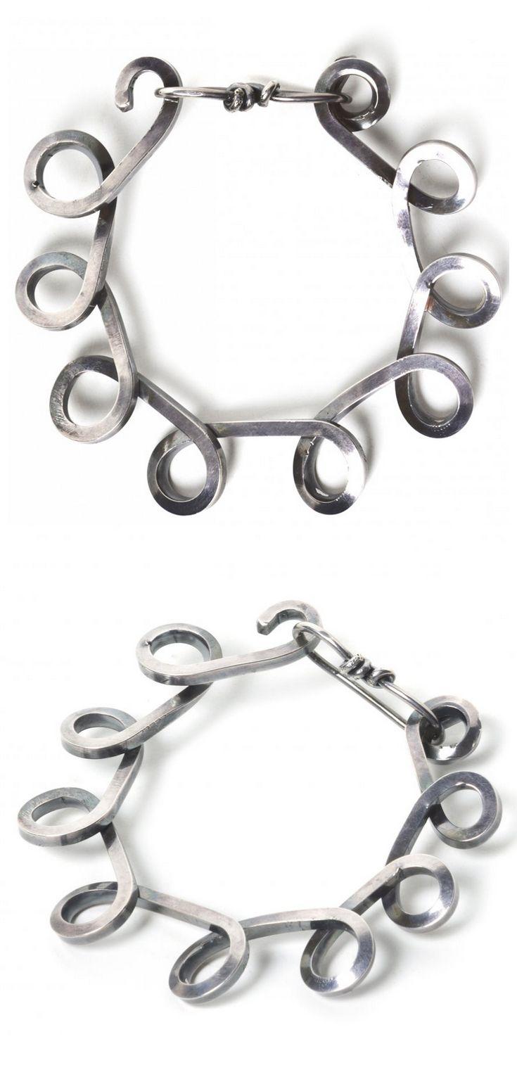 Bracelet   Alexander Calder. Sterling silver. ca. 1940s