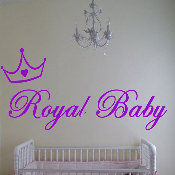 Items Similar To Royal Baby   Vinyl Wall Art   Decal   Baby Nursery   Wall  Sticker   Bedroom Decor On Etsy