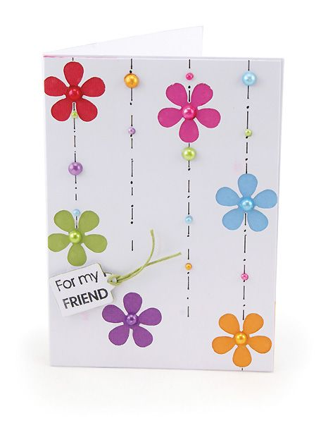 MT501d Flowers and Pearls Card