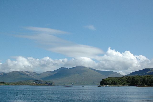 Ulva - Isle of Mull - Scotland  View from Ulva back up Loch Na Keal towards Ben More.