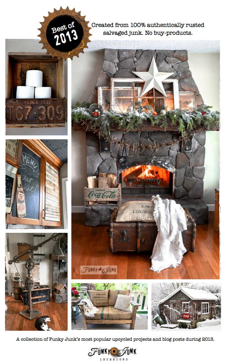 Funky Junku0027s best projects and posts of 2013 - 100% authentic junk! Christmas HomeChristmas IdeasCountry ... & 17 best Decor: FULL HOME TOURS images on Pinterest | Funky junk ...