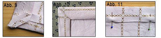 tischdecke mit briefecken n hen bastel ideen pinterest. Black Bedroom Furniture Sets. Home Design Ideas