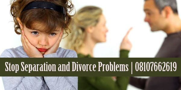 you can Stop Separation and Divorce Problems with the help of our astrologer and by that can give one chance to your married life to grow up