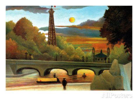 [R] Eiffel Tower at Sunset, Rousseau Henri