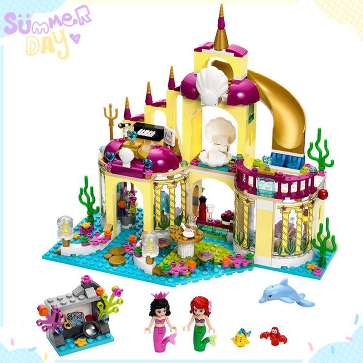 Free shipping BELA 10436 383Pcs Princess Undersea Palace Model Building Kits  Blocks Bricks Girl Toy Compatible