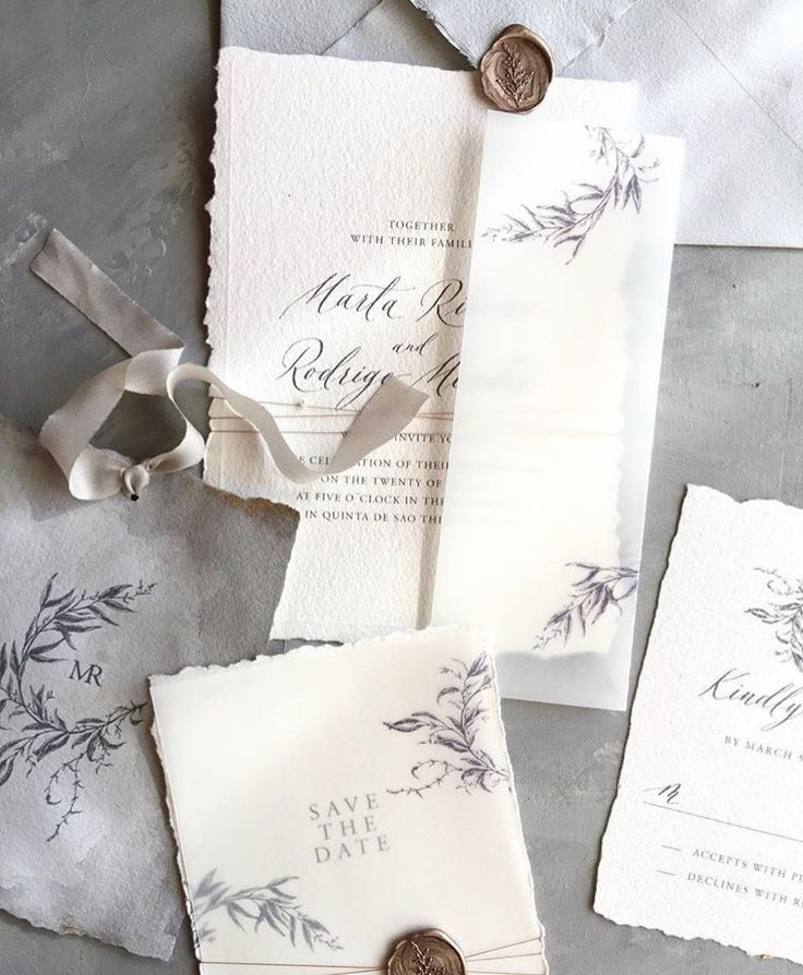 sample wedding invitation letter for uk visa%0A Love the elegant simplicity of this stationery suite and the use of vellum  paper