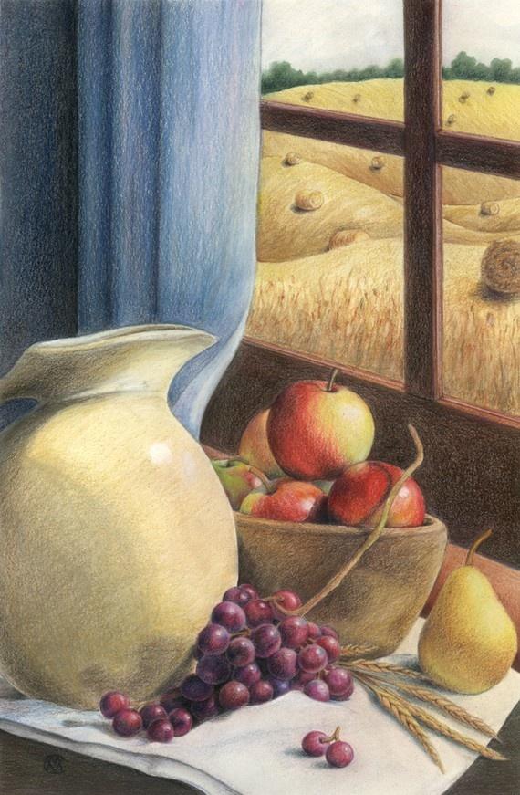 Harvest still life by CaryeVDPMahoney