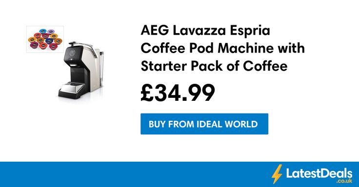 AEG Lavazza Espria Coffee Pod Machine with Starter Pack of Coffee Pods Free P&P, £34.99 at Ideal World