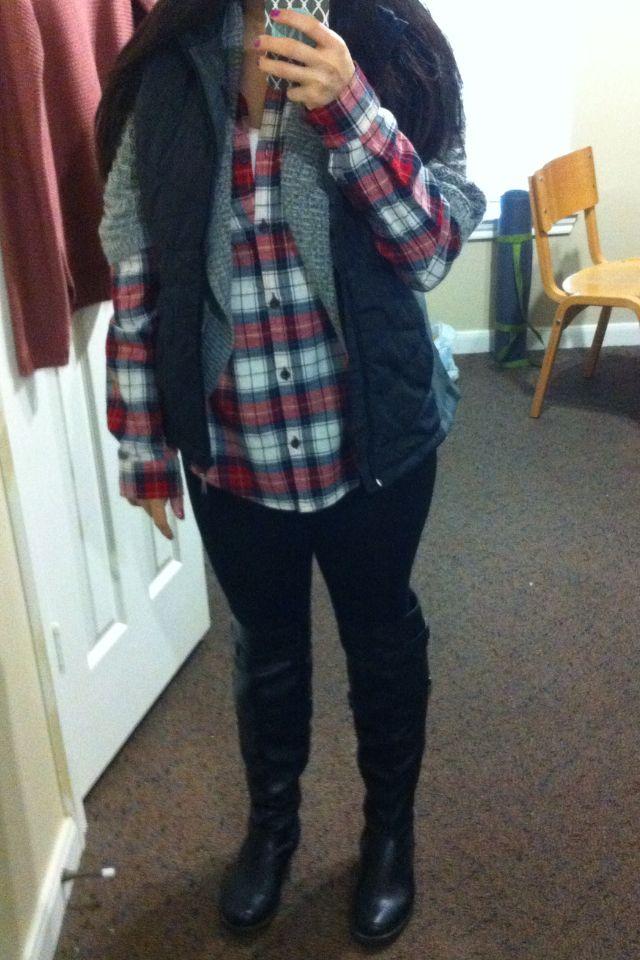 Biker/grunge winter outfit