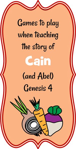 part of a whole lesson on Cain and Abel @ jesus-without-language.net