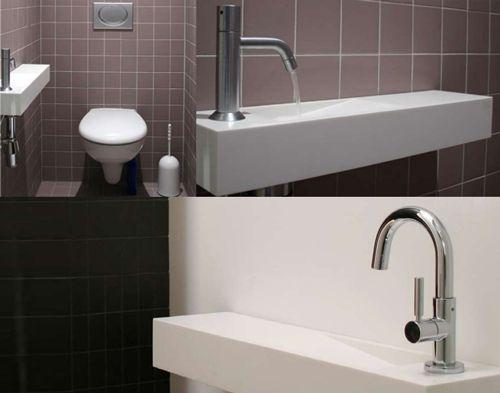 17 beste idee n over wc inrichting op pinterest toiletruimte toilet kast en bovenlichten - Wc met wastafel ...