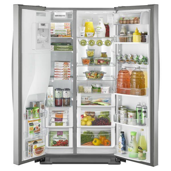 Kenmore Elite 51773 28 Cu Ft Side By Side Refrigerator Stainless Steel Kenmore Stainless Steel Refrigerator Side By Side Refrigerator Best Fridge Freezer