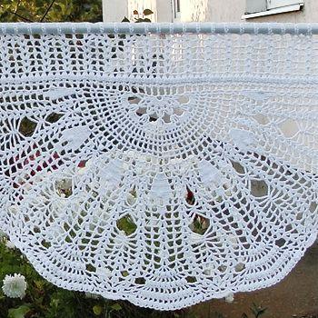 Шторы-zazdrostki, crochet-curtains