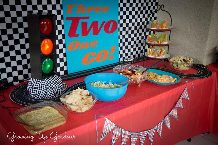 race car birthday idea