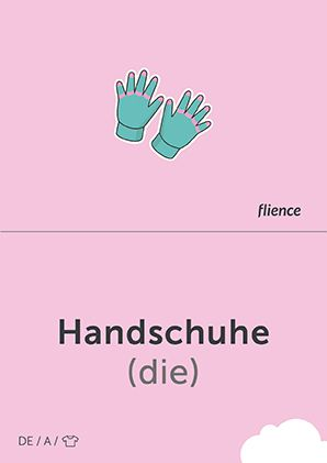 Handschuhe #CardFly #flience #clothes #german #education #flashcard #language