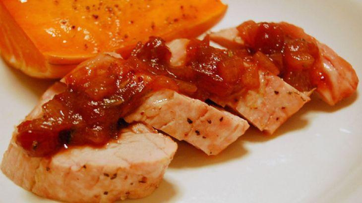 Pork Tenderloin With Balsamic-Cranberry Sauce Click