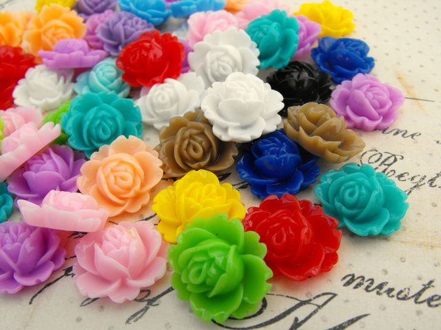 Blooming Rose Cabochons in Matched Pairs. Starting at $1 on Tophatter.com!