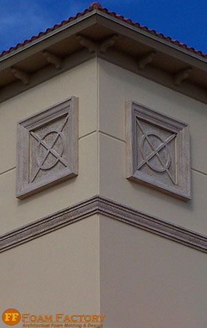 11 best house stucco images on pinterest window cornices window trims and diy stucco exterior for Architectural medallions exterior