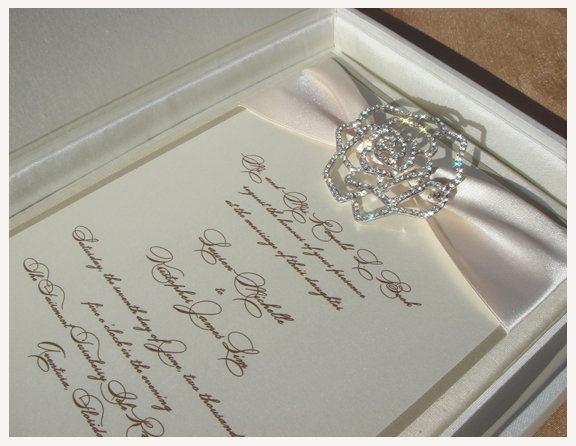 p paper a invitation wedding invitations brooch rhinestone box with