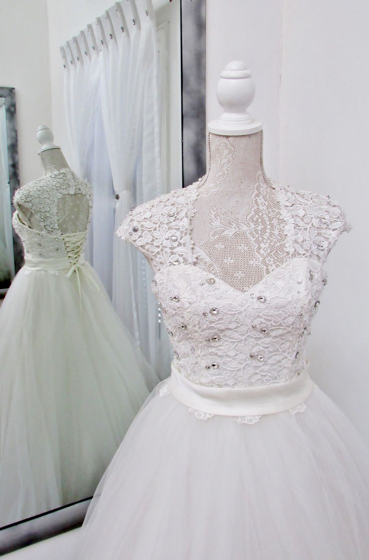 Add lace sleeves for detail on the shoulders....so feminine and classical!