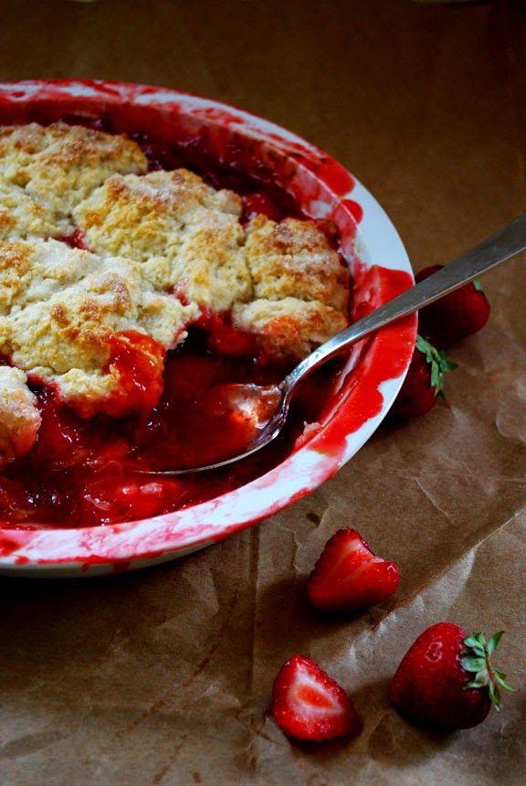 Strawberry Rhubarb Cobbler Recipe — Dishmaps