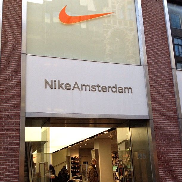 My favorite store in #Amsterdam's busy shopping boulevard #Nike #JustDoIt! :-p