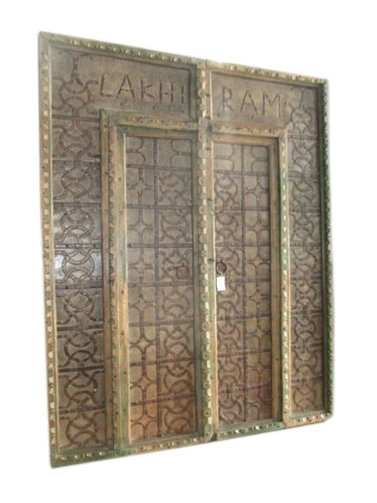 RUSTIC DOUBLE DOORS ANTIQUE MAIN ENTRANCE DOOR FURNITURE