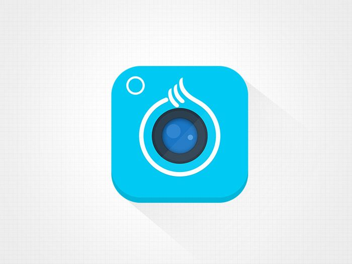 Wonderful App Icon example... Original Camera App icon, mix between flat and 3D shapes.