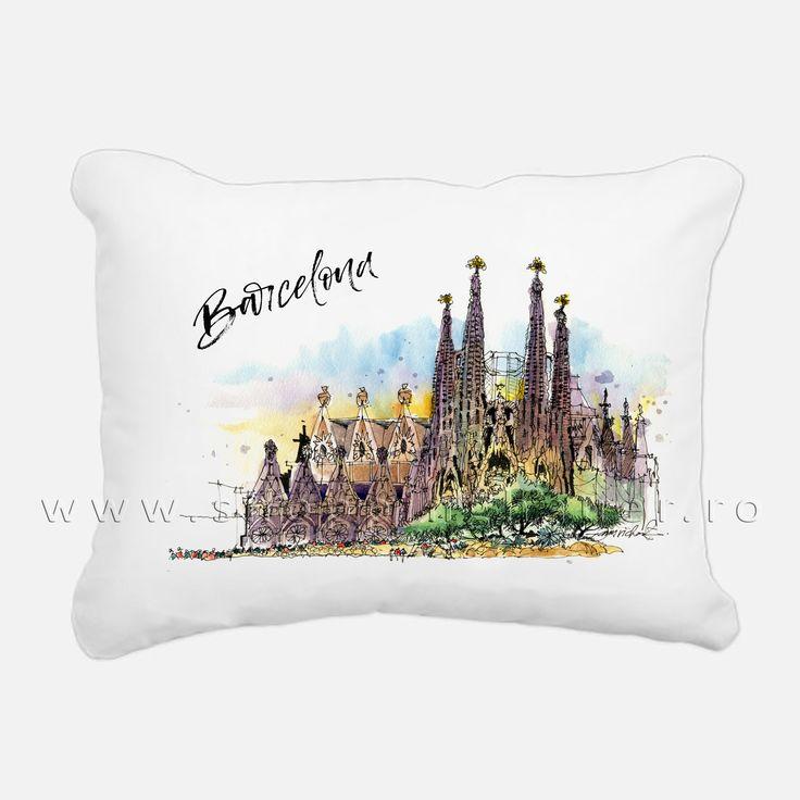 pernuta decor Barcelona. 40 x 40 cm. Deco pillow .