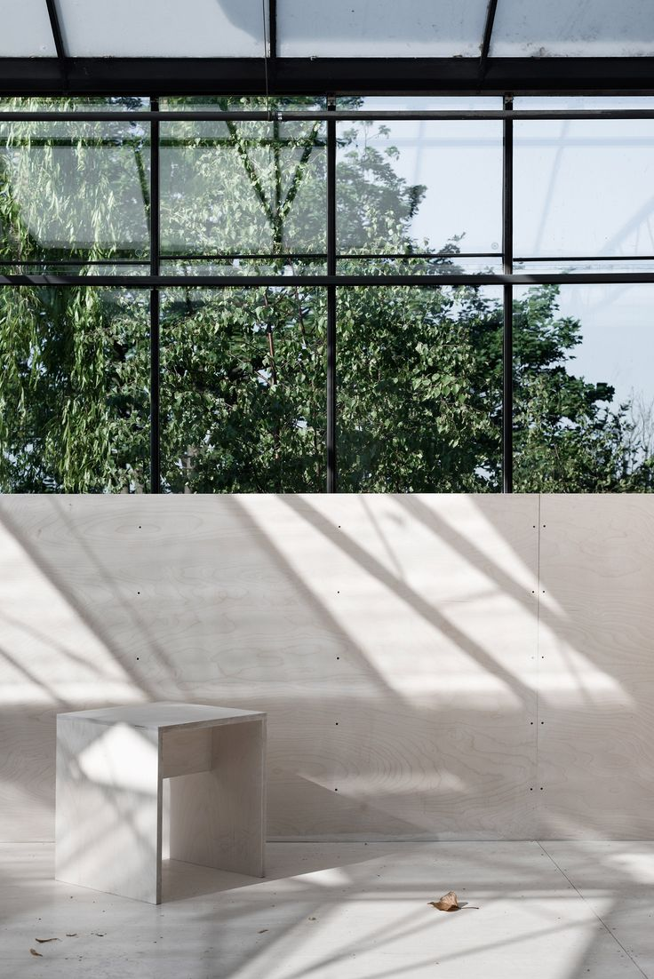 Suspended table by berstein architects - Hasa Architects Converts Derelict Glasshouses Into Events Space In Highgate