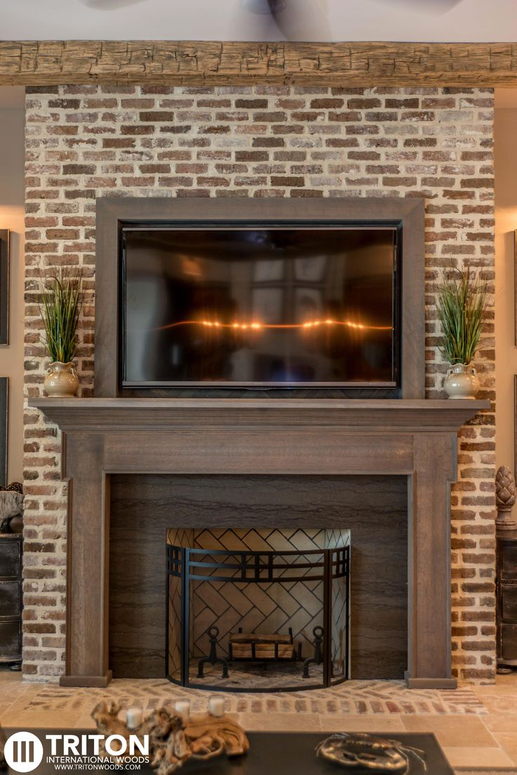 reclaimed brick fireplace also provided reclaimed beams mantel and tv enclosure reclaimed. Black Bedroom Furniture Sets. Home Design Ideas