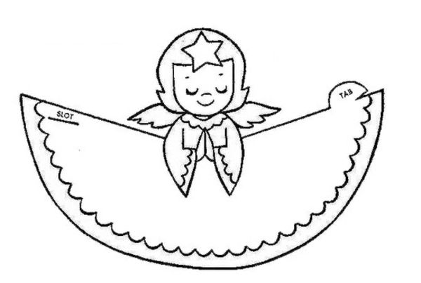 template for angel to colour and cut papier engel ausschneiden bemalen crafts for kids. Black Bedroom Furniture Sets. Home Design Ideas