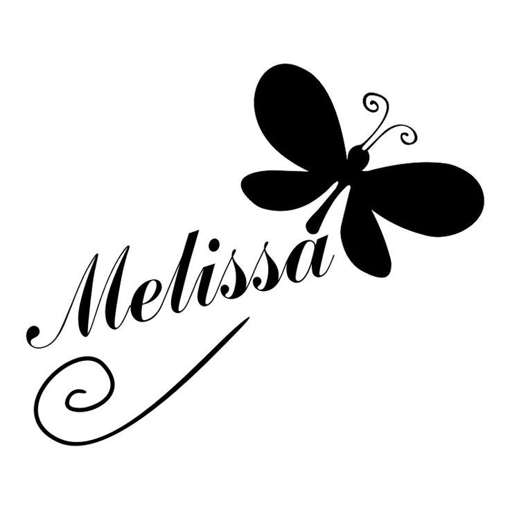 The Name Melissa with Butterflies | Melissa