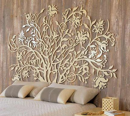 17 best images about laser wood cutting for headboard for Decor mural exterieur fer forge