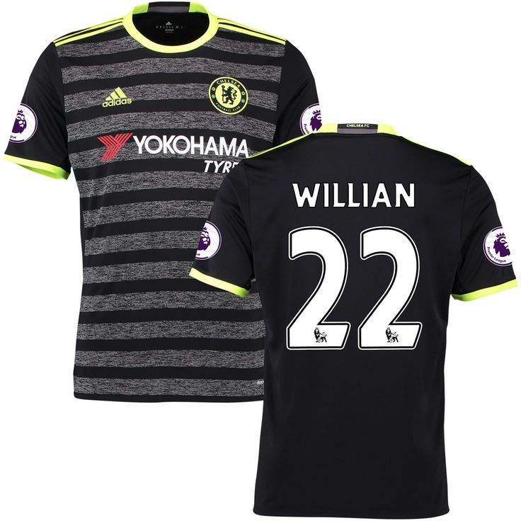 Willian Borges da Silva Chelsea adidas Replica 2016/2017 Away Player Jersey - Black/Gray - $114.99