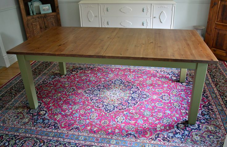 Black ikea stornas dining table redo hack chalk painted for Ikea stornas table