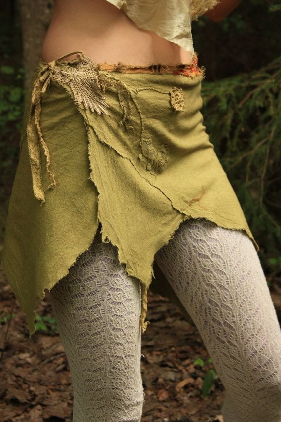 Fairy Or Nymph Grass Skirt Faerie Costume Woodland