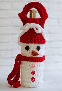 Snowman Wine Cozy Pattern By Crochet 365 Knit Too Haken En Breien