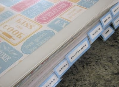 Labelmaker labels. Mount on cardstock. Attach with packing tape to make binder dividers!