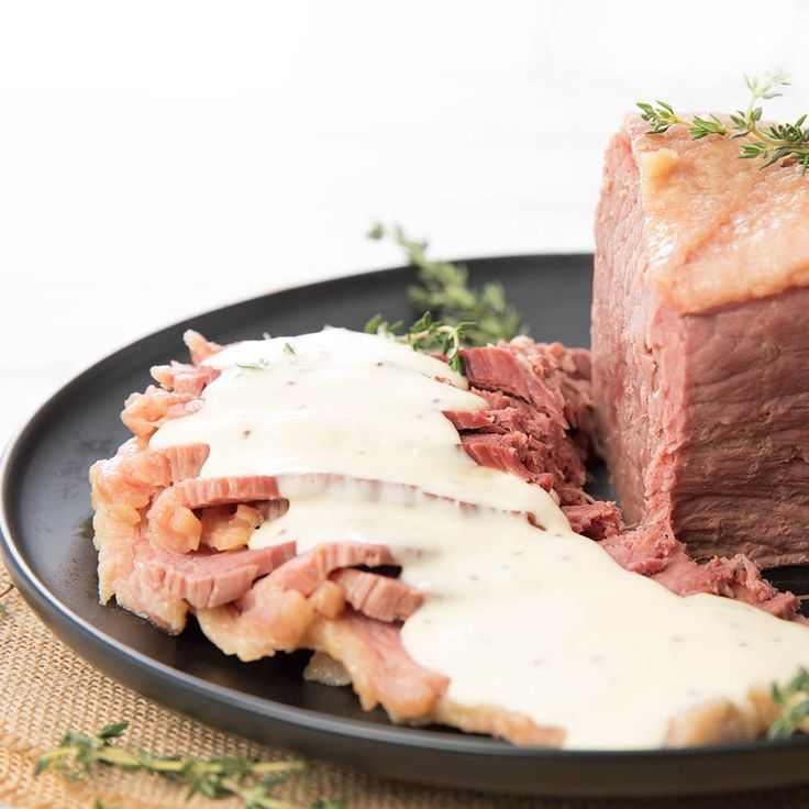 Thermomix Corned Beef with Sauce
