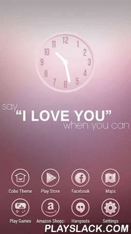 Say Love Pink Heart Theme  Android App - playslack.com , Cobo Themes are designed for Cobo Launcher .If you love somebody, you need be sure to let her know and express your feeling. That's the only way to fall in love.On the simple pink wallpaper, there is a love motto: say I love you when you can. The background is transparent pink, crystal clear and lovely.The round icons are hollow design, simple but elegant. The white color represents the purity and innocence of love. And that goes with…