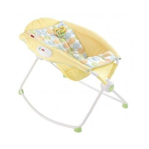 Newborn Rock n' Play Sleeper yellow fisher infant chair seat