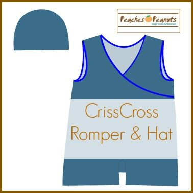 Criss Cross Romper free pattern for 3-6 month