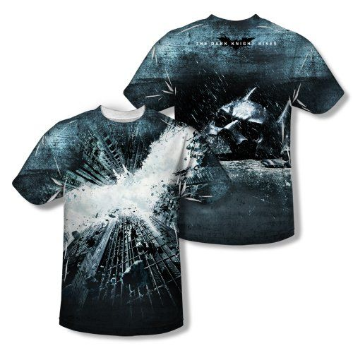 Batman Cartoon Series Dark Knight Rises Logo Poster Adult 2-Sided Print T-Shirt @ niftywarehouse.com #NiftyWarehouse #Batman #DC #Comics #ComicBooks