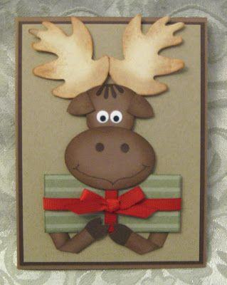 Stamp-n-Design: Christmas Present Moose