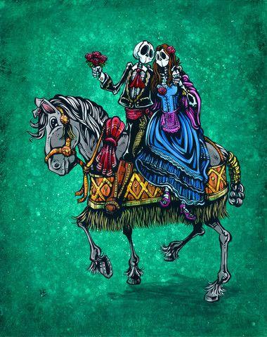 Day of the Dead Artist David Lozeau, Our Special Day, David Lozeau Dia de los Muertos Art - 1
