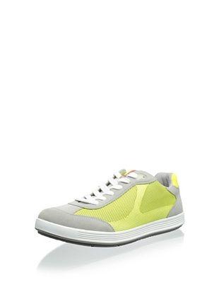 20% OFF Prada Men's Side Mesh Sneaker (Grey/Yellow)