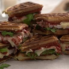 Good Food Fast Turkey, Brie & Cranberry Waffle Sandwiches by HSN Kitchen