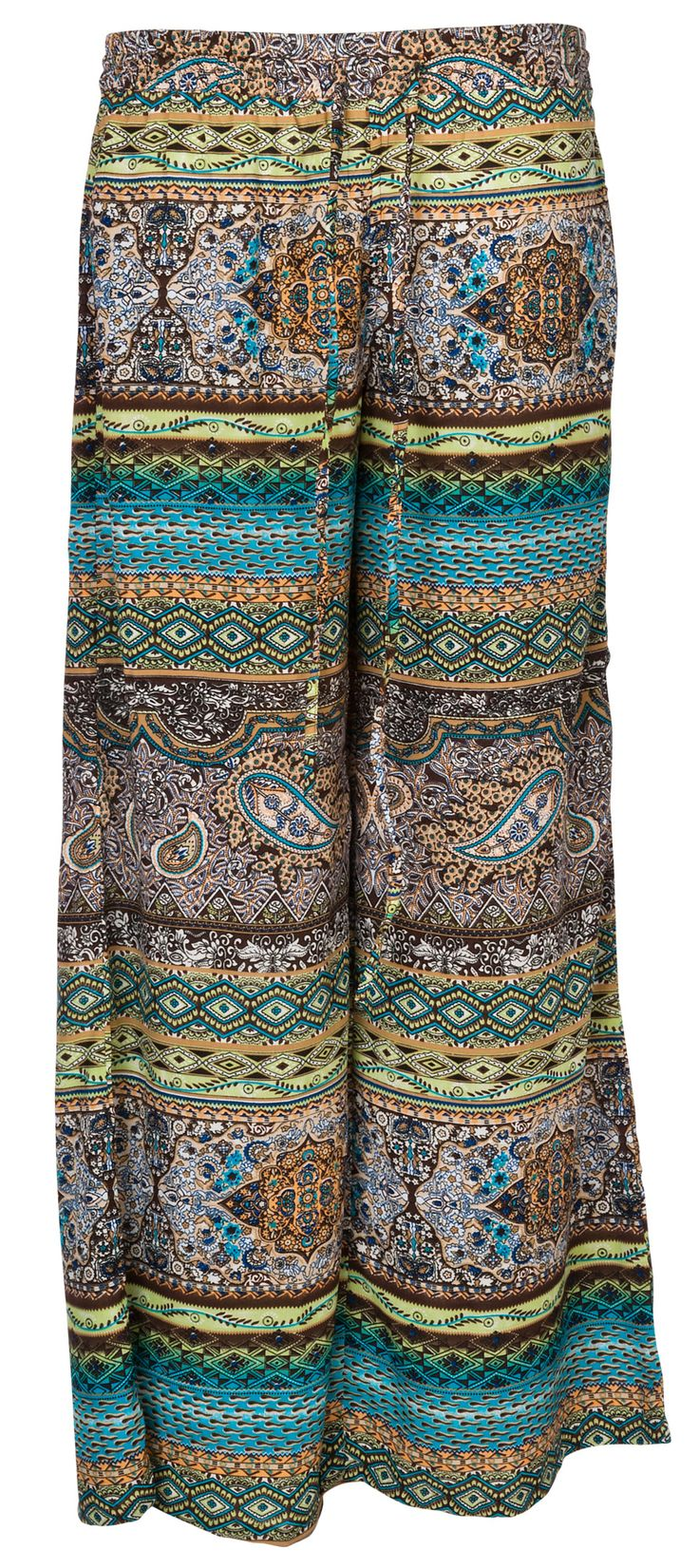 EARTHY COLORS PRINTED TROUSERS