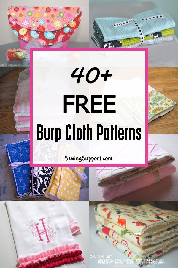 Lots of free baby Burp Cloth patterns and tutorials! #sewing ...
